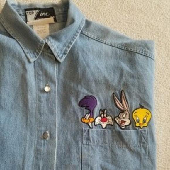 971be8851e Looney Tunes Vintage Denim Shirt